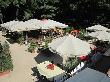 The Summer Café at the Palace Pond